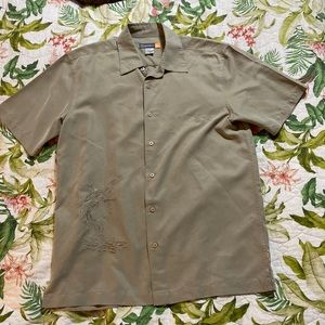 Quicksilver Men's Embroidered button up Size S